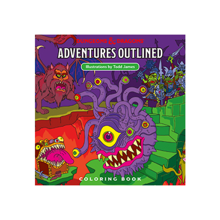 D&D Adventures - Outlined Coloring Book