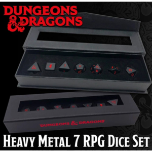 Set di 7 dadi di metallo per i GDR per Dungeons & Dragons