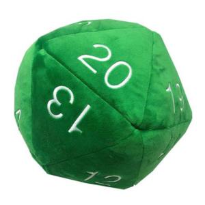 Dado Peluche per Dungeons & Dragons - Verde con bianco
